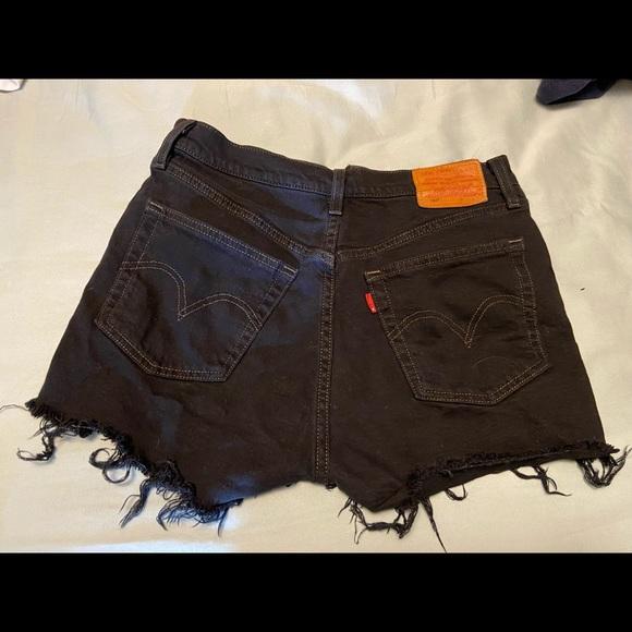 Black Levi High-Waisted Shorts